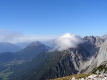 Opinión panorámica de Alpes Fotos de archivo