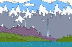 Opinión panorámica de Alpes ilustración del vector