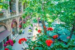 Opinión panorámica de alta resolución Koza Han (bazar de seda) en Bursa, Turquía foto de archivo libre de regalías