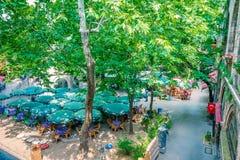 Opinión panorámica de alta resolución Koza Han (bazar de seda) en Bursa, Turquía fotos de archivo libres de regalías