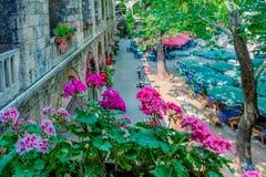 Opinión panorámica de alta resolución Koza Han (bazar de seda) en Bursa, Turquía foto de archivo