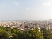 Opinión panorámica de Barcelona Foto de archivo