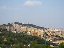 Opinión panorámica de Barcelona Fotografía de archivo
