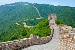 Opinión panorámica de China de la Gran Muralla de Muntianyu Fotos de archivo