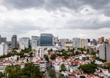 Opinión panorámica de Ciudad de México - Polanco fotos de archivo libres de regalías