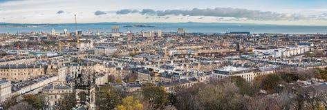 Opinión panorámica de Edimburgo imagen de archivo