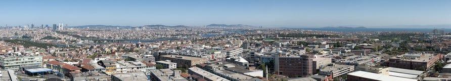 Opinión panorámica de Estambul imagen de archivo