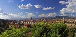 Opinión panorámica de Firenze Foto de archivo libre de regalías