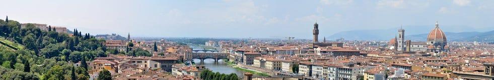 Opinión panorámica de Florencia Imagen de archivo libre de regalías