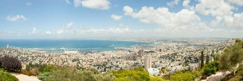 Opinión panorámica de Haifa Israel Fotografía de archivo