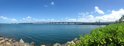 Opinión panorámica de Hawaii Imagen de archivo libre de regalías
