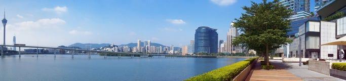 Opinión panorámica de la ciudad de Macao Imágenes de archivo libres de regalías