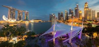 Opinión panorámica de la ciudad de Singapur Imagen de archivo