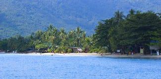 Opinión panorámica de la playa Fotos de archivo libres de regalías