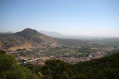 Opinión panorámica de Loja, Granada Imagen de archivo