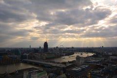 Opinión panorámica de Londres, Reino Unido Imagen de archivo libre de regalías