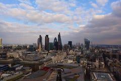 Opinión panorámica de Londres, Reino Unido Fotografía de archivo