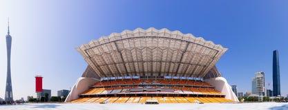 Opinión panorámica de los blanqueadores 180 del parque de Juegos Asiáticos de Haixinsha. foto de archivo