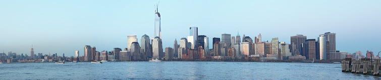 Opinión panorámica de Manhattan Foto de archivo libre de regalías
