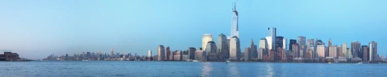 Opinión panorámica de Manhattan Fotos de archivo libres de regalías