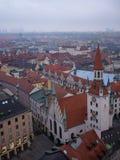 Opinión panorámica de Marienplatz desde arriba, Munich, Alemania imagen de archivo