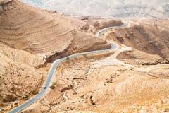 Opinión panorámica de Mujib del lecho de un río seco Fotografía de archivo libre de regalías