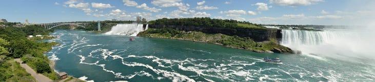 Opinión panorámica de Niagara Falls imágenes de archivo libres de regalías