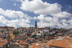 Opinión panorámica de Oporto foto de archivo libre de regalías