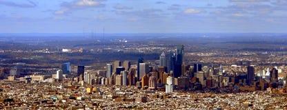 Opinión panorámica de Philadelphia Pennsylvania foto de archivo