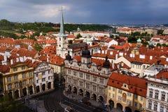 Opinión panorámica de Praga Foto de archivo libre de regalías