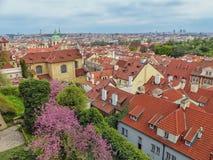 Opinión panorámica de Praga que sorprende Fotos de archivo libres de regalías