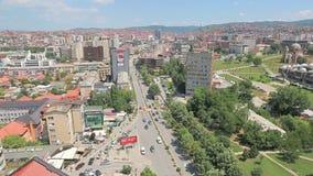 Opinión panorámica de Pristina almacen de metraje de vídeo