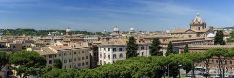 Opinión panorámica de Roma Imagenes de archivo