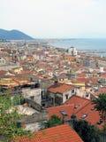 Opinión panorámica de Salerno Fotos de archivo