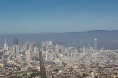 Opinión panorámica de San Francisco Imagen de archivo libre de regalías