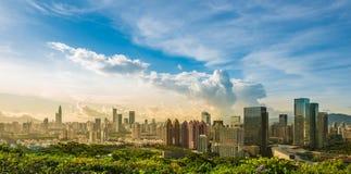 Opinión panorámica de Shenzhen Fotos de archivo libres de regalías