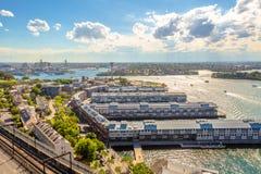 Opinión panorámica de Sydney Imagen de archivo libre de regalías