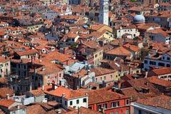 Opinión panorámica de Venecia Fotos de archivo