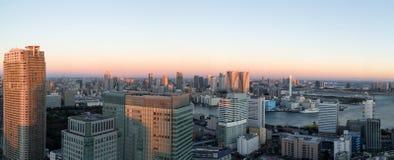 Opinión panorámica del horizonte de Tokio imágenes de archivo libres de regalías