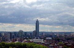 Opinión panorámica del pájaro sobre la ciudad de Londres Imagenes de archivo