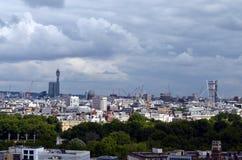 Opinión panorámica del pájaro sobre la ciudad de Londres Fotos de archivo