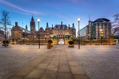Opinión panorámica del pasillo de Sheffield Town Foto de archivo libre de regalías