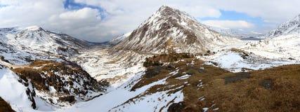Opinión panorámica del valle de Ogwen Fotos de archivo