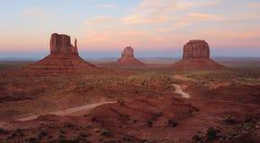 Opinión panorámica del valle del monumento Foto de archivo libre de regalías