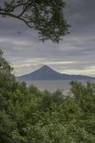 Opinión panorámica del vulcano de Momotombo, León Foto de archivo