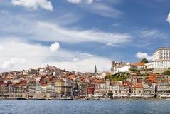 Opinión panorámica hermosa de Oporto Foto de archivo