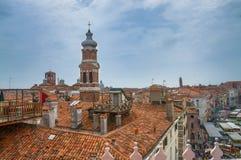 Opinión panorámica hermosa sobre Venecia del top Imágenes de archivo libres de regalías