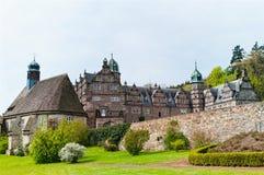 Opinión panorámica sobre el castillo Emmerthal Foto de archivo