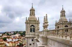 Opinión panorámica sobre el santo Vicente de Fora Monastery, Lisboa, Portu Imagenes de archivo