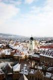 Opinión panoramical de Sibiu Fotos de archivo